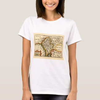 Staffordshire County Map, England T-Shirt