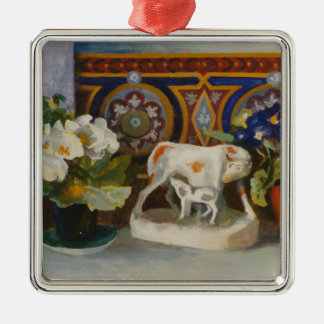 Staffordshire Cow with Primulaes 2004 Christmas Ornament
