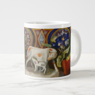 Staffordshire Cow with Primulaes 2004 Large Coffee Mug