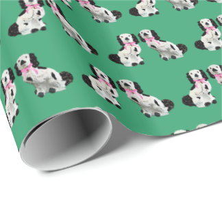 Staffordshire Dogs Green by Redux121DesignStudio Wrapping Paper