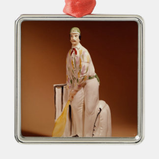 Staffordshire figure of a cricketer, 1865 christmas ornament