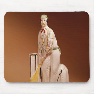 Staffordshire figure of a cricketer, 1865 mouse mat