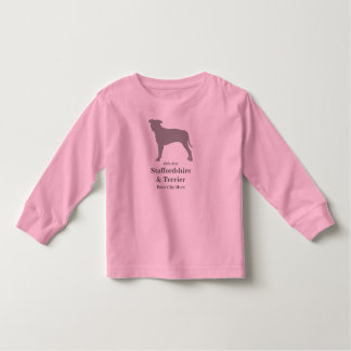 Staffordshire & Terrier Baby Tee Shirt - Customize