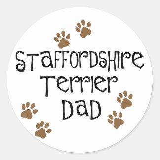 Staffordshire Terrier Dad Classic Round Sticker
