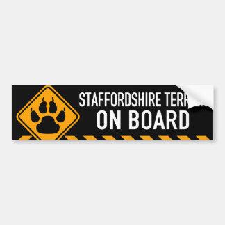 Staffordshire Terrier On Board Bumper Sticker