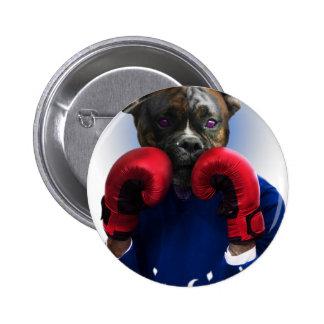 Staffy Dog Boxer Fun Animal 6 Cm Round Badge