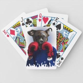 Staffy Dog Boxer Fun Animal Bicycle Playing Cards