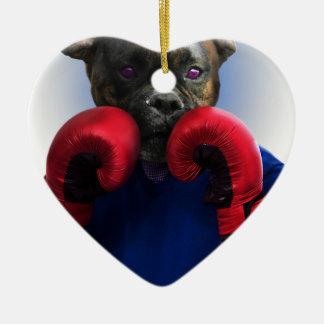 Staffy Dog Boxer Fun Animal Christmas Ornament