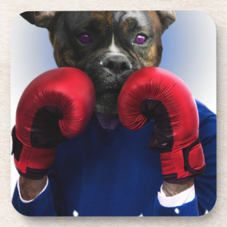 Staffy Dog Boxer Fun Animal Coaster