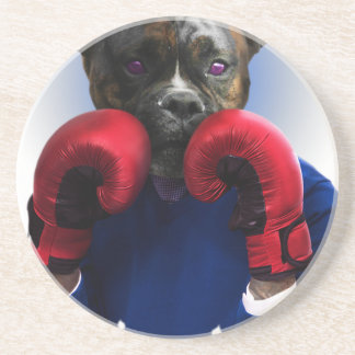Staffy Dog Boxer Fun Animal Coaster
