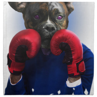 Staffy Dog Boxer Fun Animal Napkin