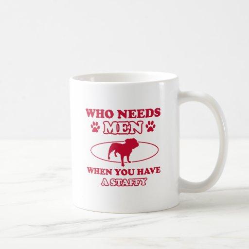Staffy dog breed designs coffee mug