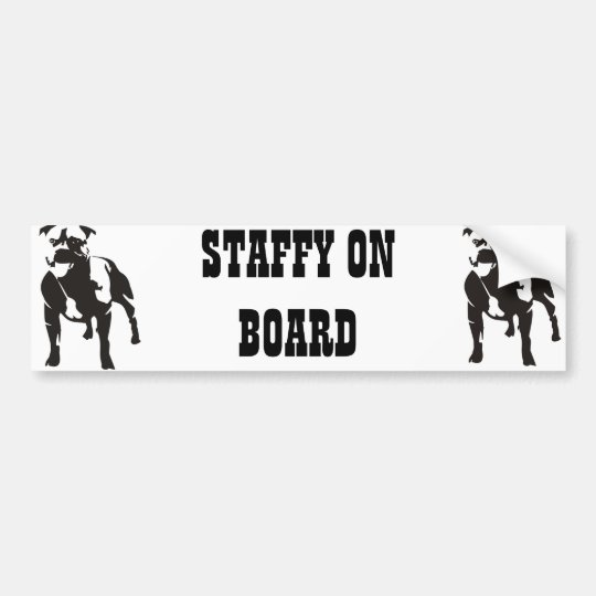 Staffy on Board Bumper Sticker