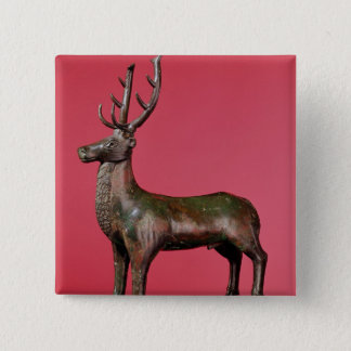 Stag 15 Cm Square Badge