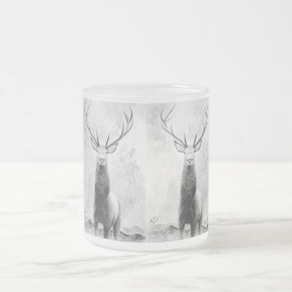 Stag 1 frosted glass coffee mug