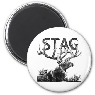 Stag 6 Cm Round Magnet