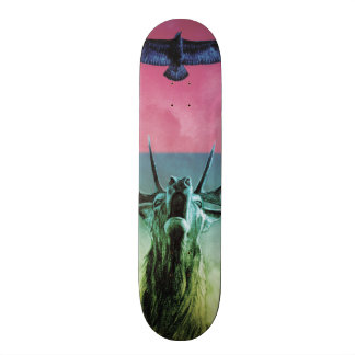 Stag and Eagle in colour Custom Skate Board
