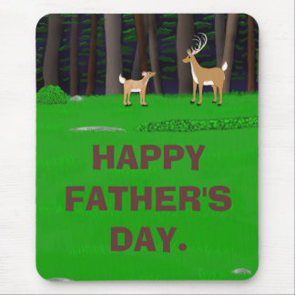 Stag and Fawn Mouse Pad