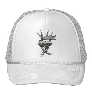 Stag antlers chair trucker hats