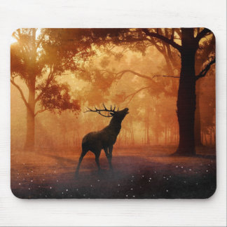 Stag at Sunset Mouse Pad