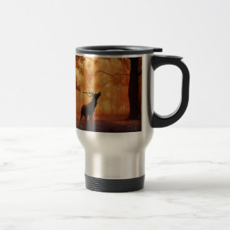 Stag at Sunset Travel Mug