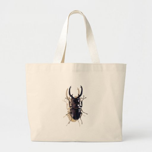 """Stag beetle"" Insect Watercolor Art Canvas Bags"