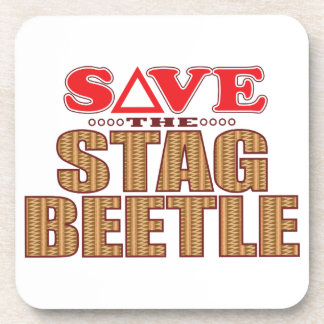Stag Beetle Save Coaster