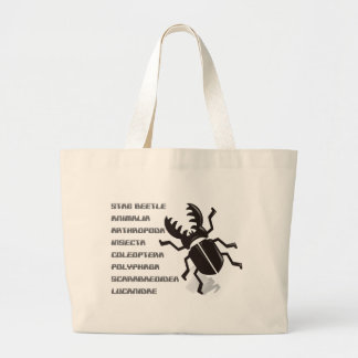 Stag beetle jumbo tote bag