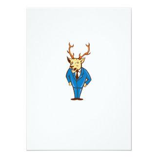 Stag Deer Hands on Hips Standing Cartoon Announcements