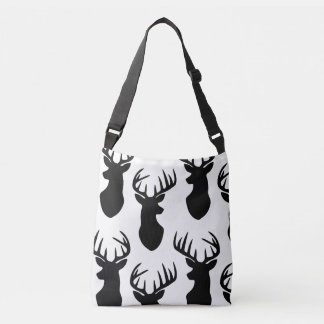Stag Deer Head Silhouette Crossbody Bag
