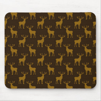 Stag Deer in Brown over Brown Mouse Pad