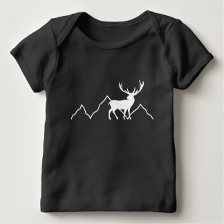 Stag Deer Mountains Baby T-Shirt