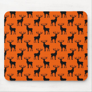 Stag Deer on Bright Orange Mouse Pad
