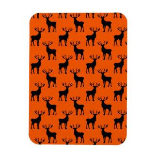 Stag Deer on Bright Orange Magnets