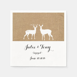STAG & DEER WEDDING party paper napkins