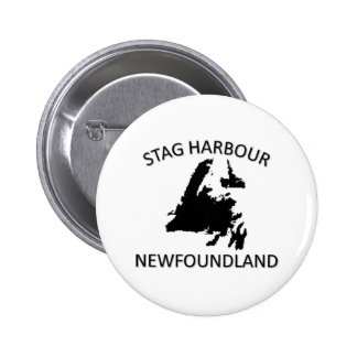 Stag harbour pinback button