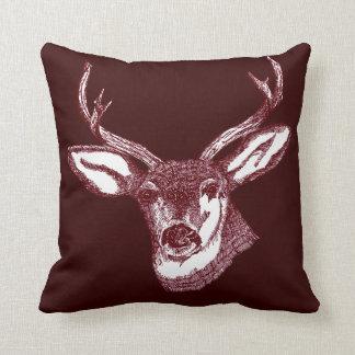 stag head argyle pattern pillow