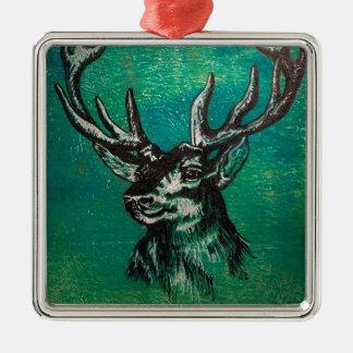 Stag head christmas ornament