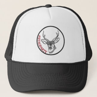 Stag Head Hash Tag Stag Party Trucker Hat