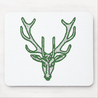 Stag head in green mousepad