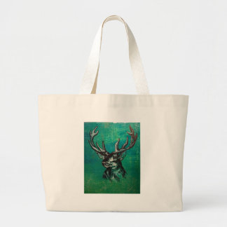 Stag head large tote bag