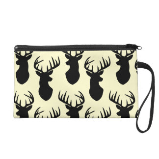 Stag Head Pattern Wristlet