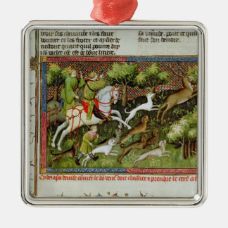 Stag Hunting, from the Livre de la Chasse Christmas Ornament