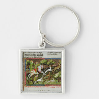 Stag Hunting, from the Livre de la Chasse Key Ring