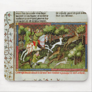 Stag Hunting, from the Livre de la Chasse Mouse Pad
