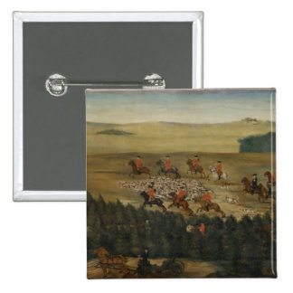 Stag-hunting with Frederick William I of Prussia 15 Cm Square Badge