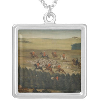Stag-hunting with Frederick William I of Prussia Silver Plated Necklace