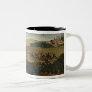 Stag-hunting with Frederick William I of Prussia Two-Tone Coffee Mug
