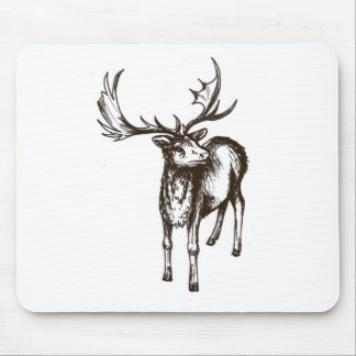 Stag illustration mousepads