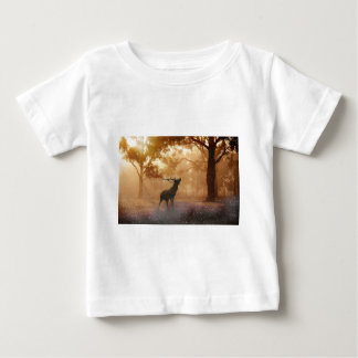 Stag in Mystical Forest Baby T-Shirt